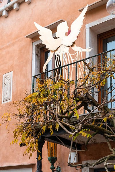 Angel on the Balcony rear façade Excess Venice Hotel